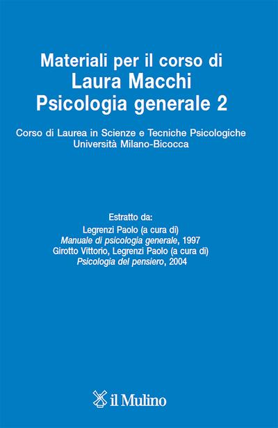 Cover Materiali per il corso di Psicologia generale 2